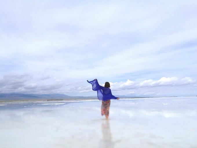 青海湖拍照姿势大全